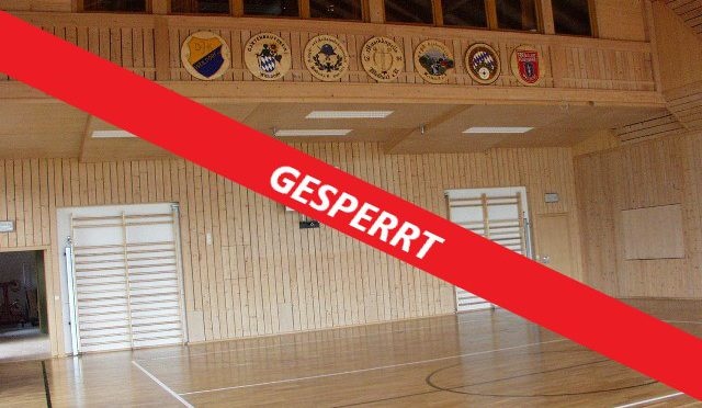 Sportstätte gesperrt